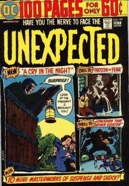 Tales of the Unexpected 159 - 100 Pages - Masterworks Of Suspense - Cry In The Night - Frozen In Fear - Creature