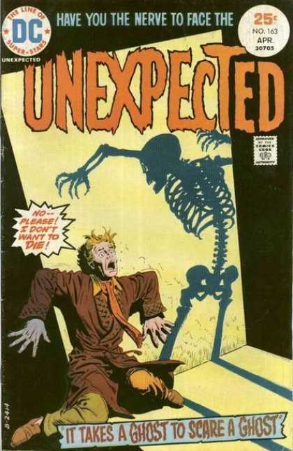 Tales of the Unexpected 163 - Skeleton - Shadow - Ghost - Dc - The Line Of Superstars
