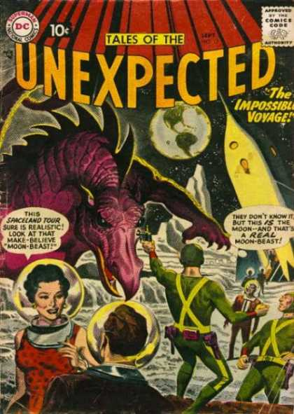 Tales of the Unexpected 17 - The Unexpected - Unexpected Tales - Unexpected Comic - Spaceland Tour - Moon-beast