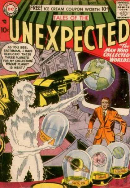 Tales of the Unexpected 18 - Planets - Earth - Shrinking Ray - Universe - Collections - Jack Kirby