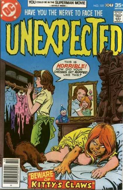 Tales of the Unexpected 181 - Dc - Woman - Portrait - Wardrobe - Comics Code