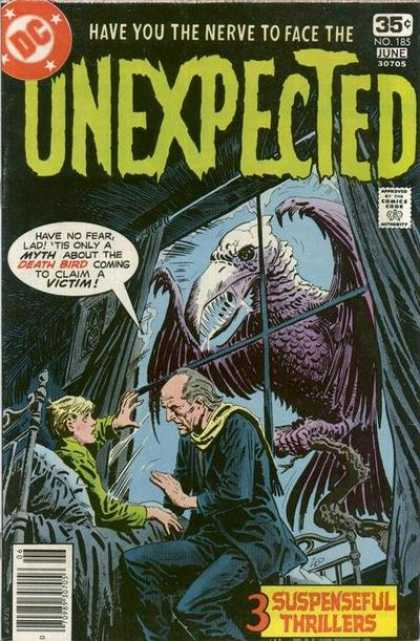 Tales of the Unexpected 185 - Death Bird - Thrillers - Myth - Haunted Mansion - Razor Teeth