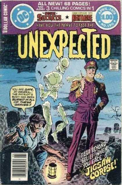 Tales of the Unexpected 190 - Jigsaw Corpse - Graveyard - Full Moon - Officer - Grave Digger