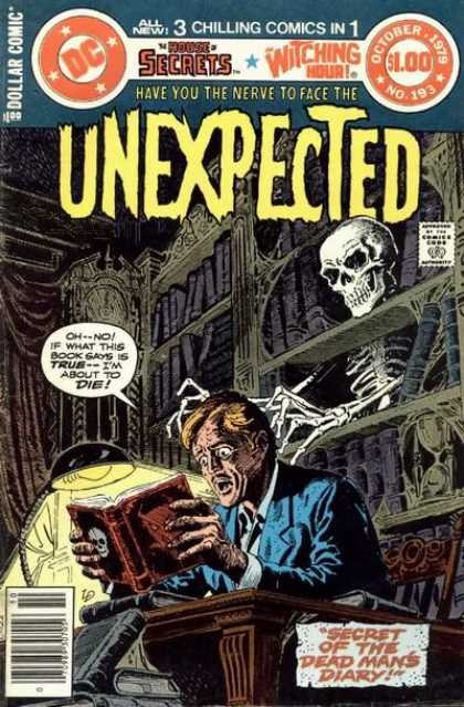 Tales of the Unexpected 193 - Skeleton - Library - Reading - Lamp - Secret Of The Dead Mans Diary