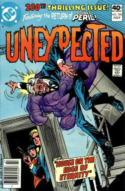Tales of the Unexpected 200 - Johnny Peril - Gun - Purple Giant Hand - House On The Edge Of Eternity - Staircase