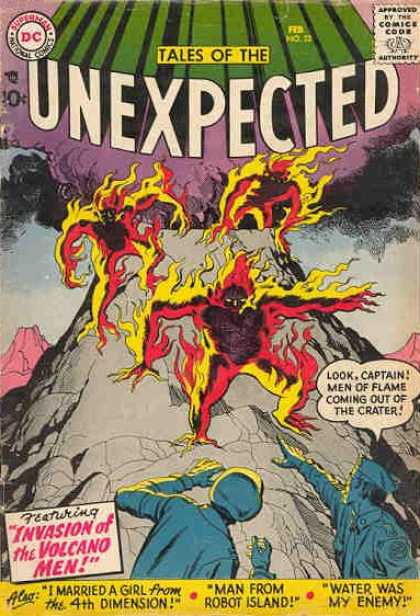 Tales of the Unexpected 22 - Dc - Superman - National Comics - Approved By The Comics Code Authority - Invasion Of The Volcano Men - Jack Kirby