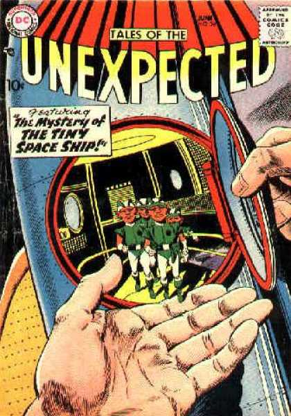Tales of the Unexpected 26 - Aliens - Tiny Space Ship - Hand - Comics Code Authority - 10 Cents
