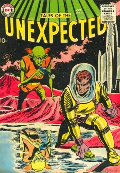 Tales of the Unexpected 30 - Water - Spaceman - Rocket - Alien - Astronaut