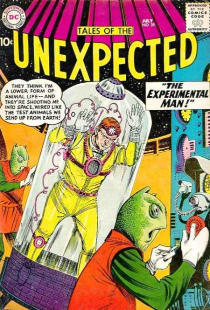 Tales of the Unexpected 39 - Aliens - Space - Approved By The Comics Code Authority - Dc - Superman