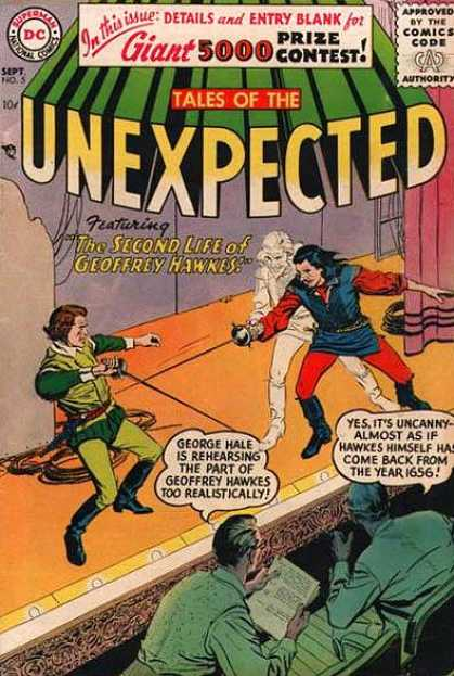 Tales of the Unexpected 5 - Comics Code - Prize Contest - The Second Life Of Geoffrey Hawkes - Battle - Rapier
