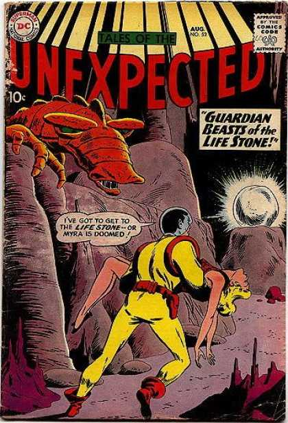 Tales of the Unexpected 52 - Guardian Beasts Of The Life Stone - Horror - Monster - Glowing Rock - Space Suit