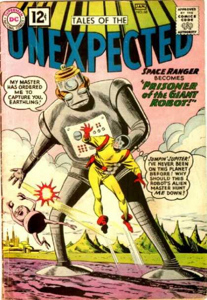 Tales of the Unexpected 68 - Space Ranger - Prisoner - Giant Robot - Dc Comics - Jumpin Jupiter