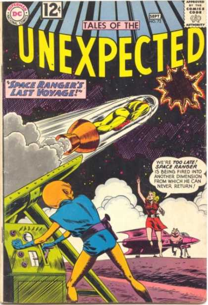 Tales of the Unexpected 72 - Space Ranger - Last Voyage - Rocket - Alien - Black Hole