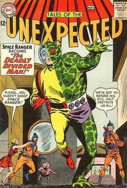 Tales of the Unexpected 76 - Space Ranger - Deadly Divided Man - Webbed Hand - Aliens - Guns