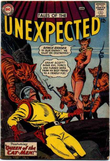 Tales of the Unexpected 80 - Superman - Approved By The Comics Code - Queen Of The Cat-men - Spear - Stone