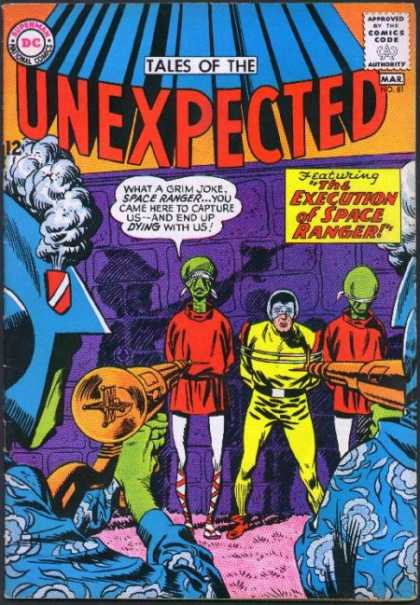 Tales of the Unexpected 81 - Space Ranger - Execution - Aliens - Wall - Blindfolds