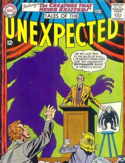 Tales of the Unexpected 89 - The Creature That Never Existed - Quoquarto Beast - Shadow - Podium - Audience