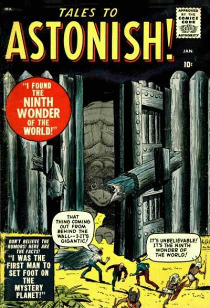 Tales to Astonish 1 - The Mystery Planet - Huge Turtle - Wooden Gates - Ninth Wonder - Running Away - John Buscema