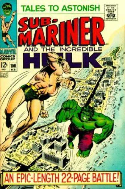 Tales to Astonish 100 - Sub-mariner - The Hulk - City - Water - An Epic Length 22 Page Battle