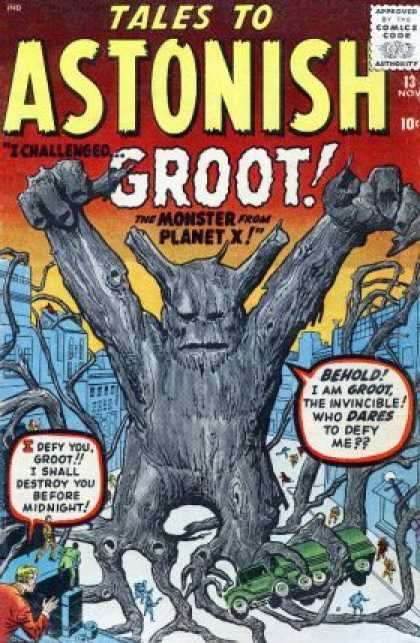 Tales to Astonish 13 - Groot - Planet X - Tree Monster - Challenge - Defiance - Jack Kirby