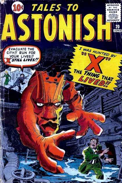 Tales to Astonish 20 - X - Giant Monster - Industrial Setting - Man In Peril - Sewers - Jack Kirby