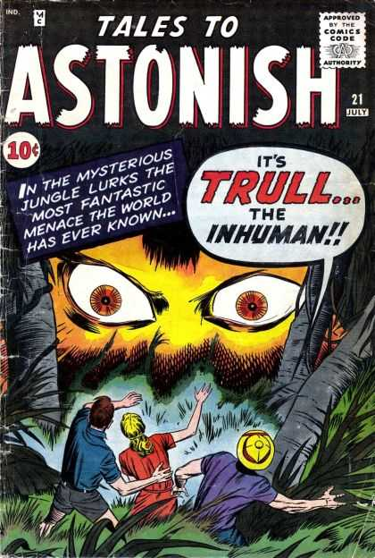 Tales to Astonish 21 - Huge - Terrified - Blood Curling - Jungle - Scary - Jack Kirby