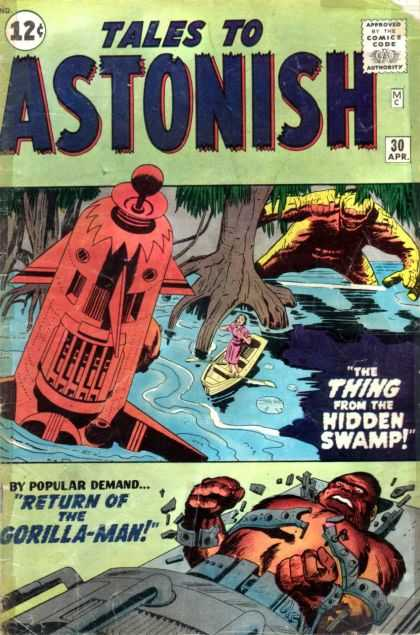 Tales to Astonish 30 - Hidden Swamp - Thing - Monster - Woman - Gorilla-man - Jack Kirby