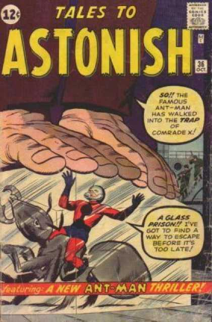 Tales to Astonish 36 - Vintage Comic - Ant Man 3 - Marvel Silver Age - Giant Props - Comrade X - Jack Kirby