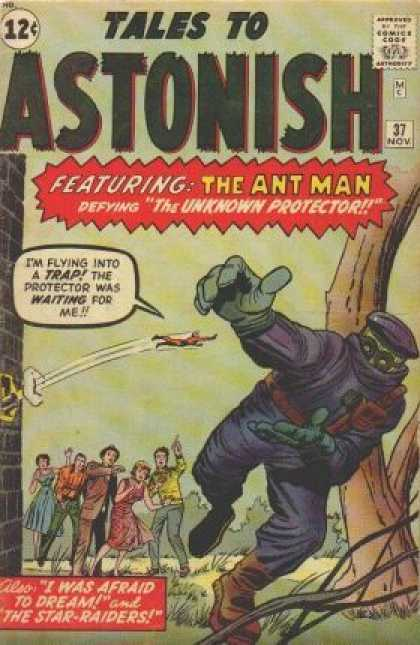 Tales to Astonish 37 - Ant-man - Unknown Protector - I Was Afraid To Dream - Mask - 37 - Jack Kirby