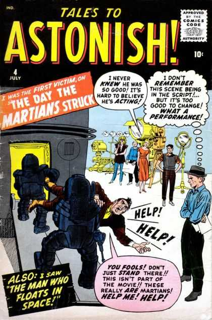 Tales to Astonish 4 - Movie - Martian - Filming - Acting - Script - Jack Kirby, John Buscema