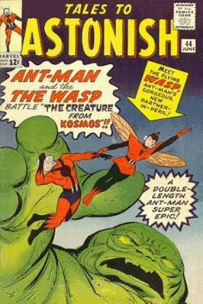 Tales to Astonish 44 - Ant-man - The Wasp - The Creature From Kosmos - Double-length - Marvel - Jack Kirby