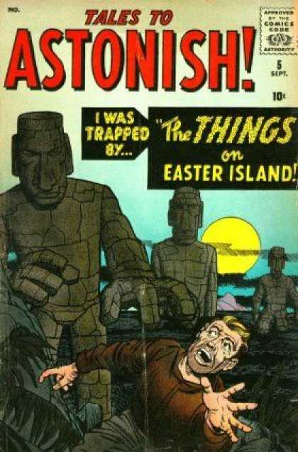 Tales to Astonish 5 - The Hidden Things - Surviving On Island Tough - Bad Things - Haunted Island - Trip To Death - Jack Kirby, John Buscema