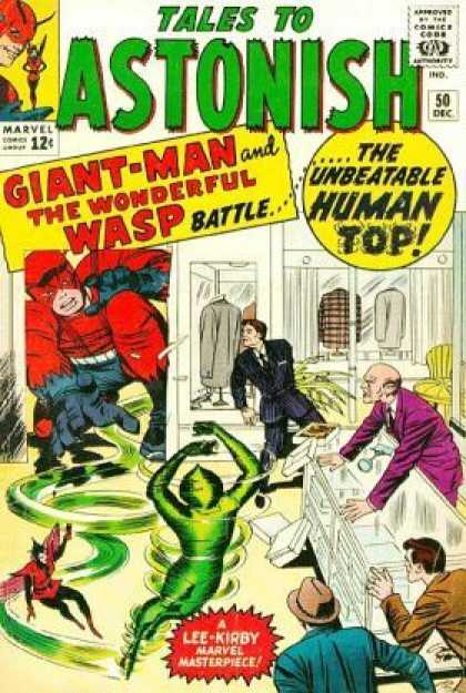 Tales to Astonish 50 - Giant Man - The Wonderful Wasp - The Human Top - Businessmen - Store - Jack Kirby