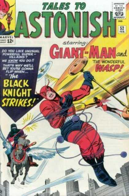 Tales to Astonish 52 - Approved By The Comics Code Authority - Marvel Comics Group - The Black Knight Strikes - Horse - 52 Feb - Jack Kirby