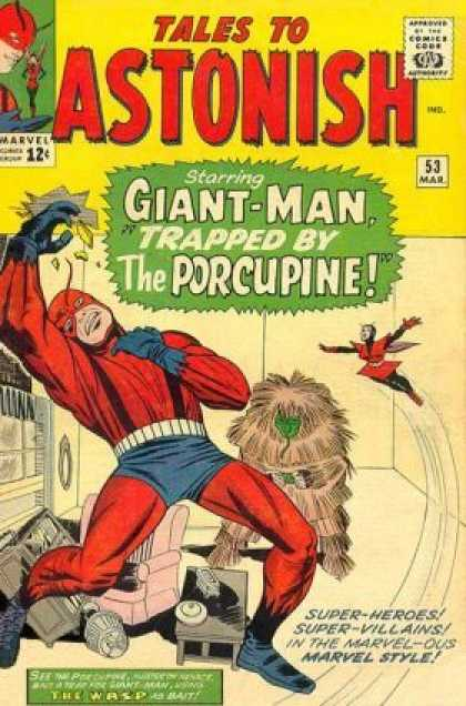 Tales to Astonish 53 - Marvel - 12 Cents - Giant-man - Trapped By The Porcupine - Superhero - Jack Kirby