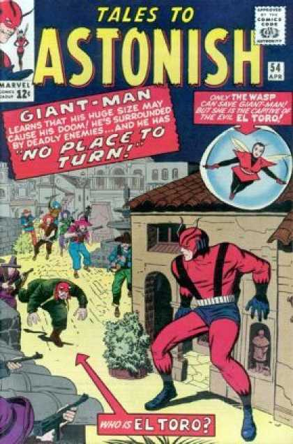 Tales to Astonish 54 - Giant-man - The Wasp - El Toro - Doom - Deadly Enemies - Jack Kirby