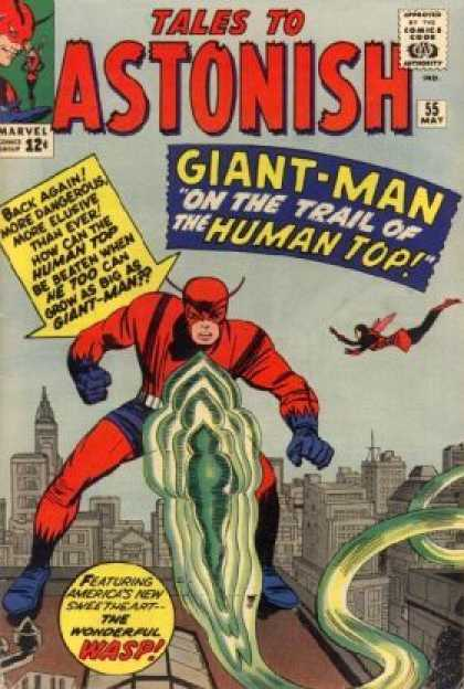 Tales to Astonish 55 - Superhero - Word - Flying - Building - Monster - Jack Kirby