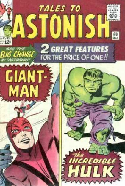 Tales to Astonish 60 - Hulk - Giant Man - 60 Oct - Flying Woman - Masked Man - Jack Kirby