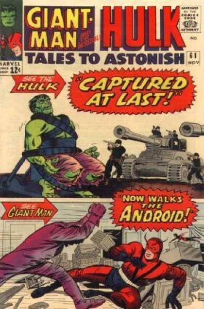 Tales to Astonish 61 - Hulk - Tank - Captured - Giant Man - Marvel - Jack Kirby