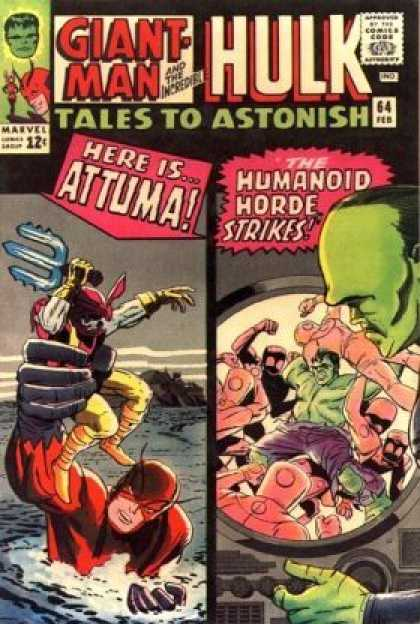 Tales to Astonish 64 - Marvel - Giant Man - Incredible Hulk - Attuma - The Humanoid Horde Strikes - Jack Kirby