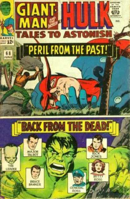 Tales to Astonish 68 - The Incredible Hulk - Giant Man - Peril From The Past - Back From The Dead - Marvel Comics - Jack Kirby