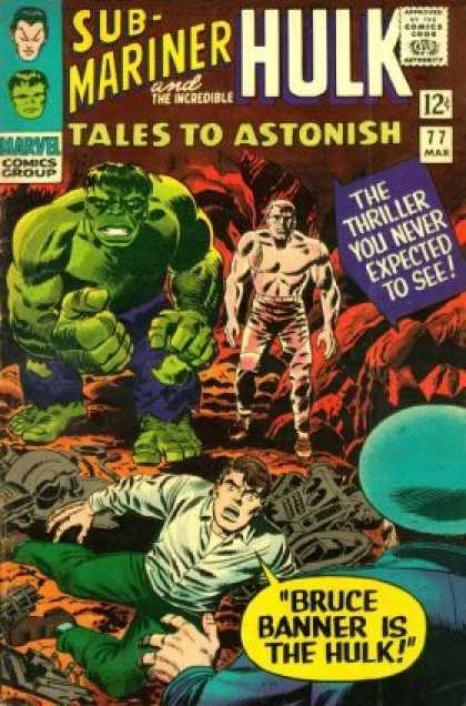 Tales to Astonish 77 - Marvel Comics Group - 12c - 77 Mar - Sub Mariner Hulk - Bruce Banner Is The Hulk - Jack Kirby