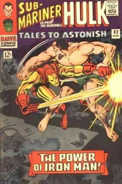 Tales to Astonish 82 - Hulk - Fingers - Shadows - Iron Man - Struggle - Gene Colan