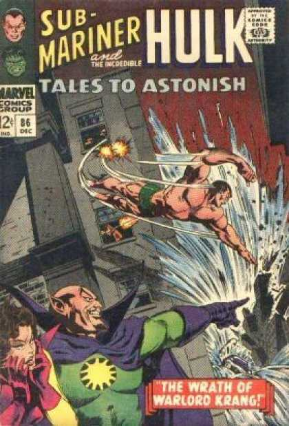 Tales to Astonish 86 - Warlord Krang - Flying - Submariner - Building - Floods - Gene Colan