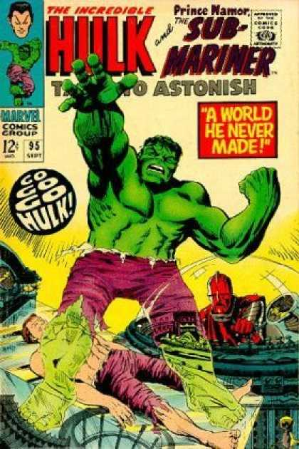 Tales to Astonish 95 - Incredible Hulk - Marvel Comics - Sub-mariner - World He Never Made - Green Body