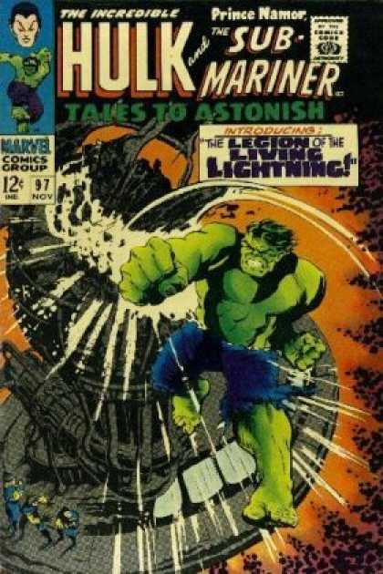 Tales to Astonish 97 - The Incredible Hulk - Prince Namor - Sub Mariner - Marvel Comics - Blue Pants - Jack Kirby
