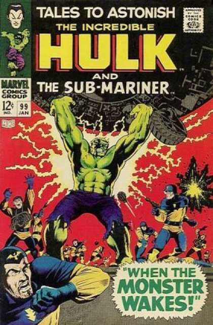 Tales to Astonish 99 - Hulk - Sub-mariner - Marvel - Monster Wakes - Swat