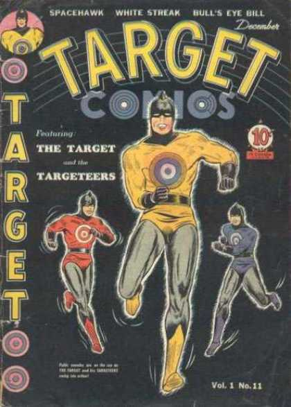 Target Comics 11 - Vol 1 No 11 - Spacehawk - White Streak - Bulls Eye Bill - December Issue