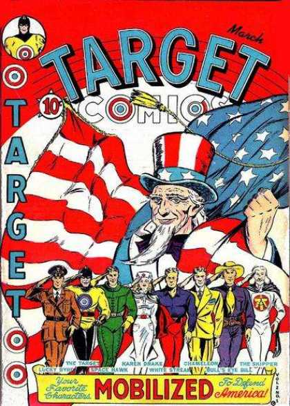 Target Comics 13 - American Flag - People - To Defend America - Space Hawk - The Skipper