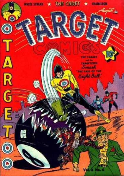 Target Comics 18 - The Case Of The Eight Ball - White Streak - The Cadet - Chameleon - The Target Of The Targeteers Smash